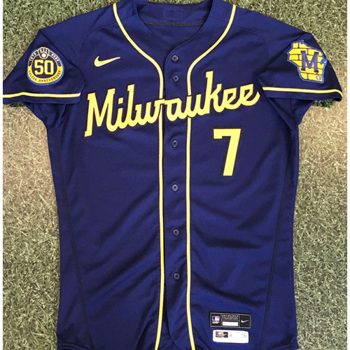 Photo of Eric Sogard 2020 Team-Issued Road Navy Jersey