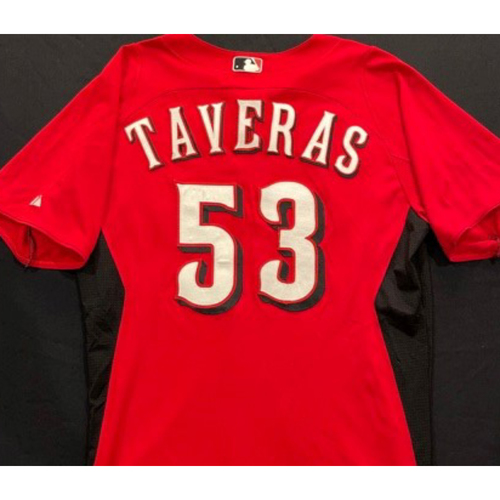 Photo of TAVERAS-53 -- Authentic Reds Jersey -- $1 Jersey Auction -- $5 Shipping -- Size 42 (Not MLB Authenticated)