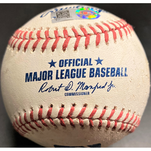 Photo of Game-Used Baseball: Cleveland Indians Cesar Hernandez Single and Jose Ramirez RBI Double (MLB AUTHENTICATED)