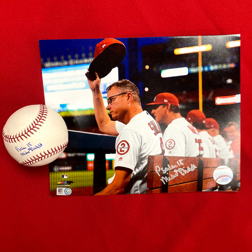 Photo of Mike Shildt Autographed Baseball and Photo