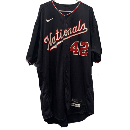 Photo of Bob Henley - Jackie Robinson Day Autographed Game Worn Jersey - Size 52T