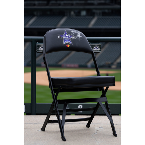 Photo of 2021 Celebrity Softball Game Autographed On Field Chair - Anuel AA