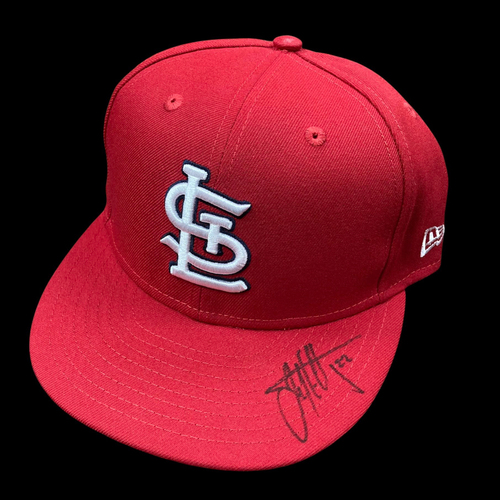 Photo of Jack Flaherty Autographed Team Issued Home Cap (Size 7 3/4)