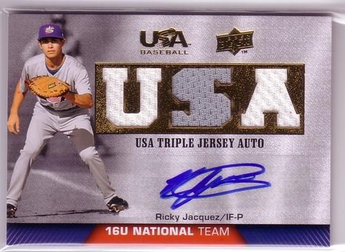 Photo of 2009-10 USA Baseball 16U National Team Jersey Autographs #RJ Ricardo Jacquez
