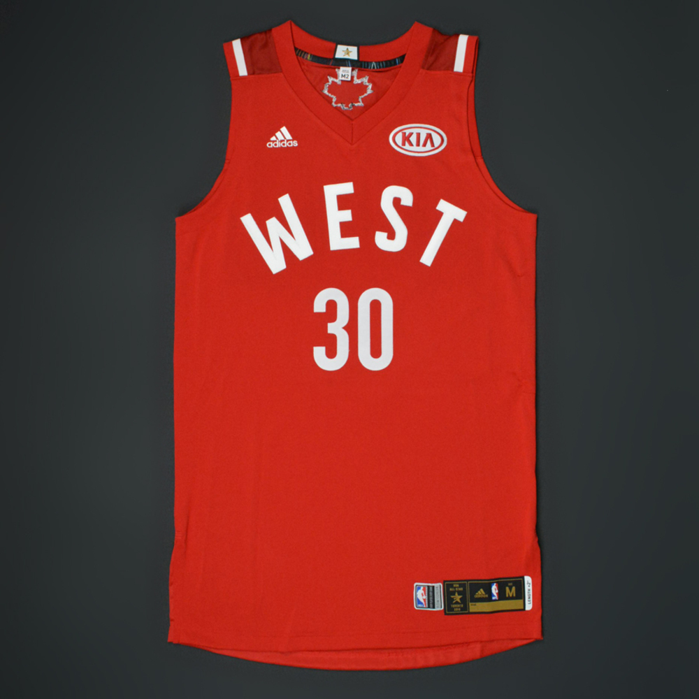 97eed0d72fb canada stephen curry 2016 nba all star game western conference autographed  jersey e81c8 7c113