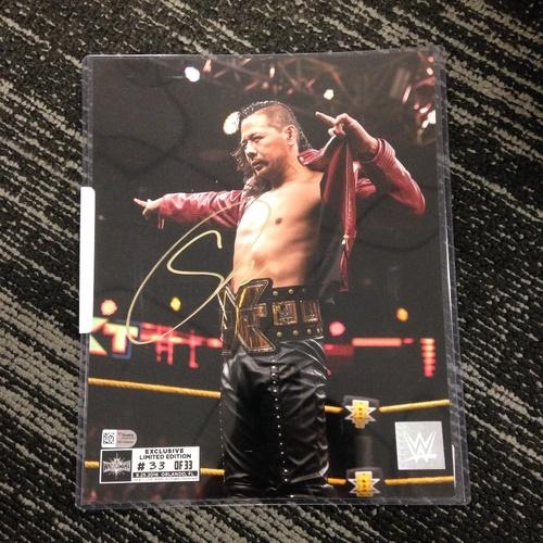 Shinsuke Nakamura SIGNED 8 x 10 Limited Edition WrestleMania 33 Photo (#33 of 33) (w/ Title)