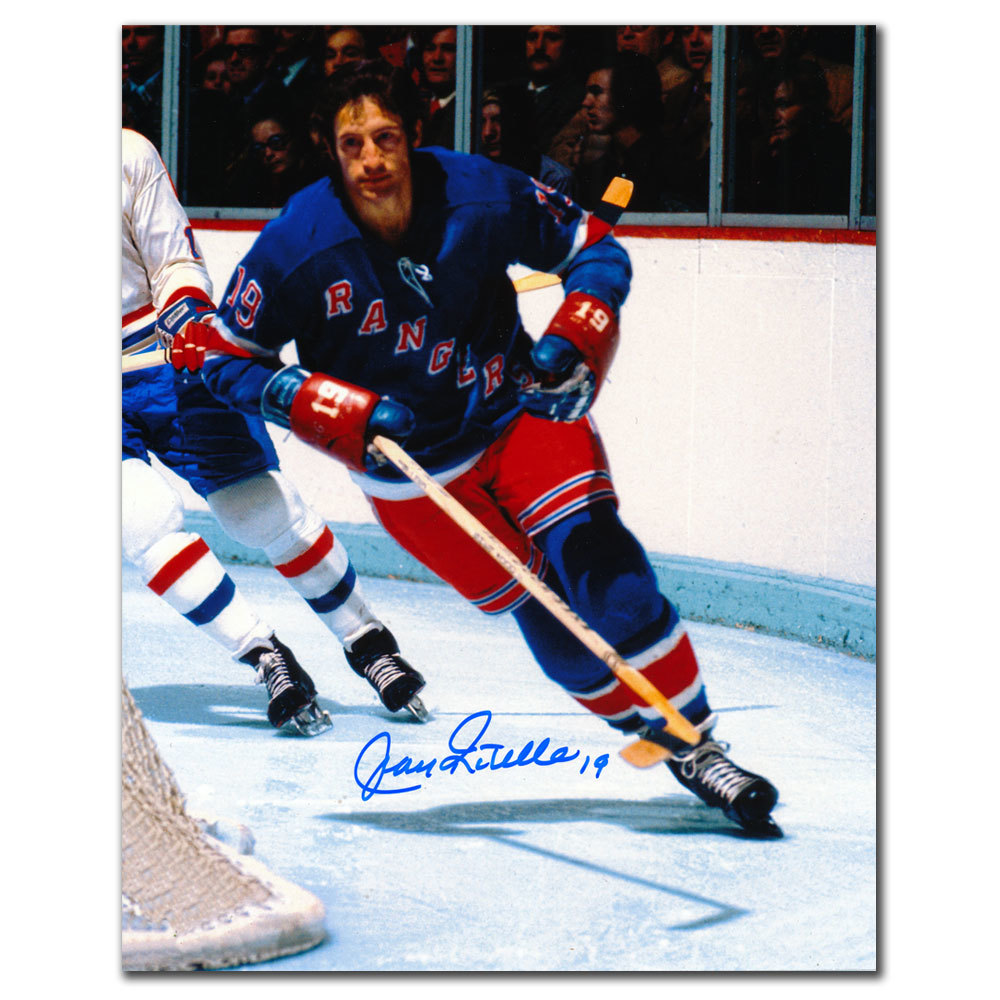 Jean Ratelle New York Rangers RUSH Autographed 8x10
