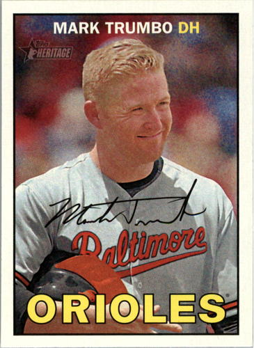 Photo of 2016 Topps Heritage #72 Mark Trumbo