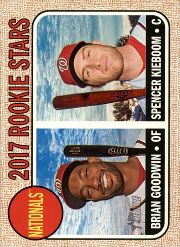 Photo of 2017 Topps Heritage #319 Brian Goodwin RC/Spencer Kieboom Rookie Card