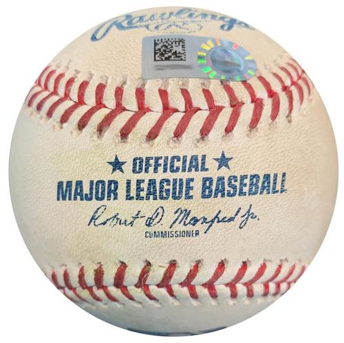 Photo of Game-Used Baseball from Pirates vs. Mets on 7/28/18 - deGrom to Polanco, Single