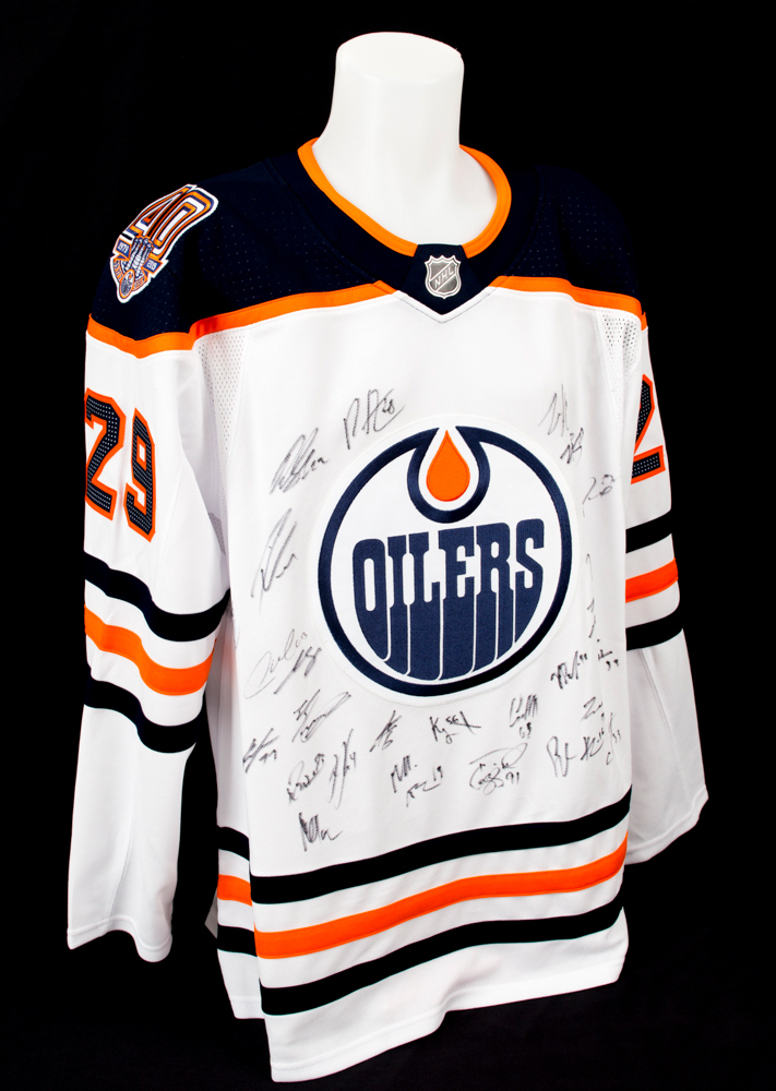 2018-19 Edmonton Oilers Team-Signed White Oilers Adidas Pro Authentic Jersey  Crested To  29 Leon Draisaitl baf7469bd