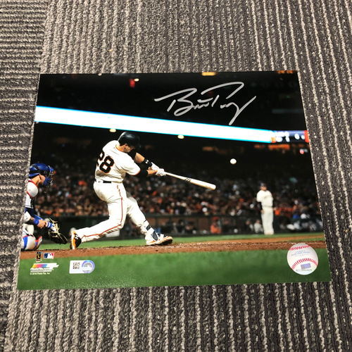 Photo of Autographed 8 x 10 Photo - #28 Buster Posey (Hitting)