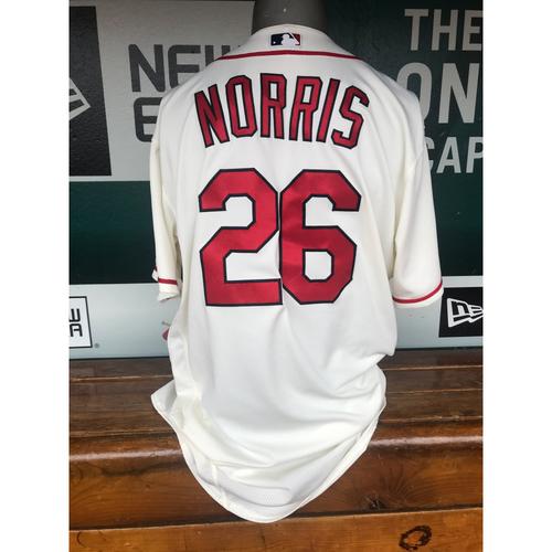 Photo of Cardinals Authentics: Game Worn Bud Norris Saturday Alternate Jersey