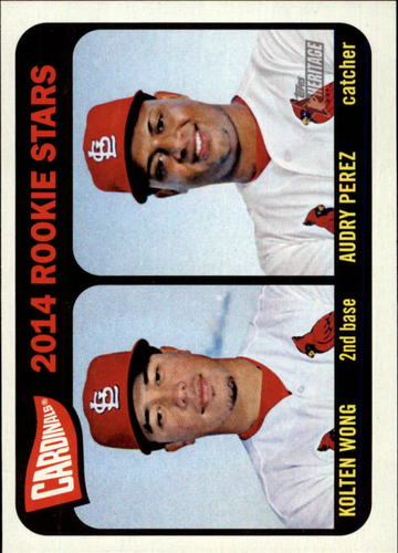 Photo of 2014 Topps Heritage #116 Kolten Wong RC/Audry Perez RC