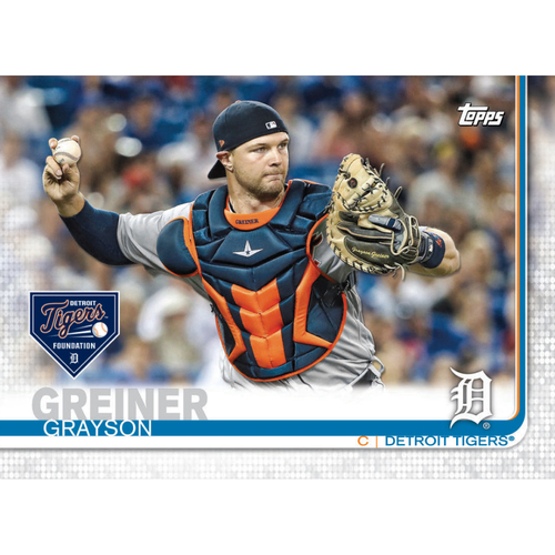 Photo of Autographs for a Cause: Grayson Greiner Autographed Limited Edition 2019 Topps Detroit Tigers Baseball Card