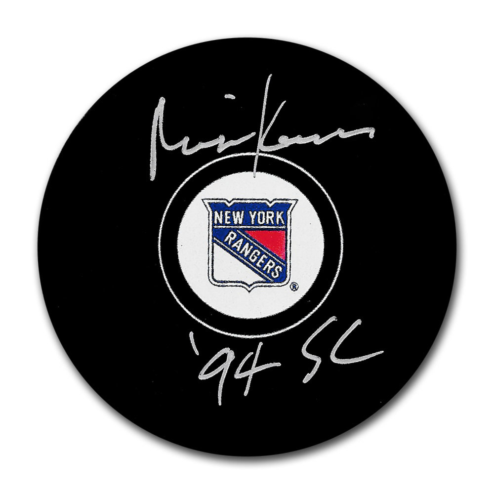 Mike Keenan Autographed New York Rangers Puck w/94 SC Inscription