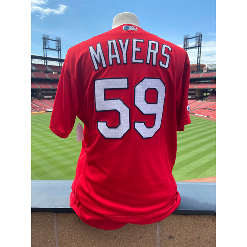 Photo of Cardinals Authentics: Team Issued Mike Mayers Red BP Jersey