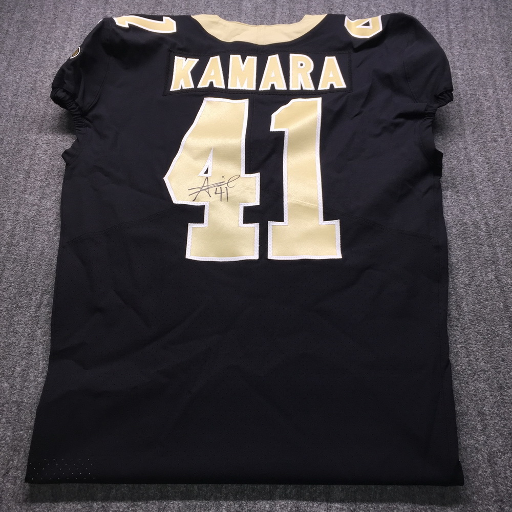 Alvin Kamara signed authentic Saints jersey - The money raised in this auction will be donated to the Black College Football Hall of Fame