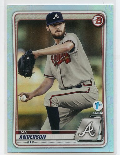 Photo of 2020 Bowman 1st Edition Sky Blue Foil #BFE97 Ian Anderson