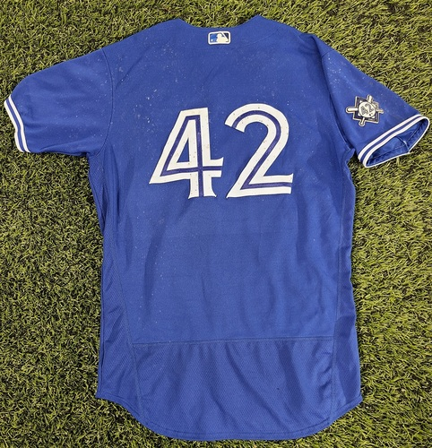 Photo of CHARITY AUCTION: Authenticated Game Used #42 Jersey: Teoscar Hernandez (Aug 28, 20). Size 44.