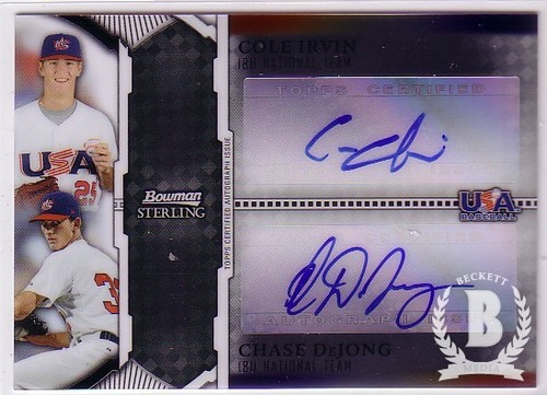 Photo of 2011 Bowman Sterling Dual Autographs #ID Cole Irvin/Chase DeJong