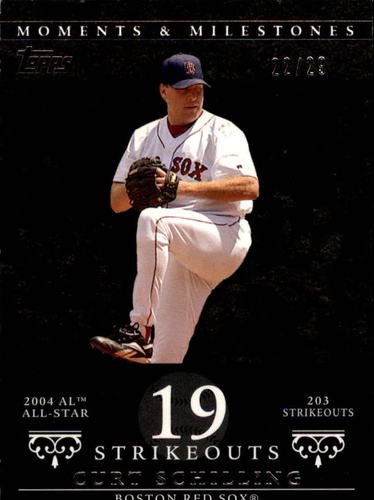 Photo of 2007 Topps Moments and Milestones Black #92-19 Curt Schilling/SO 19