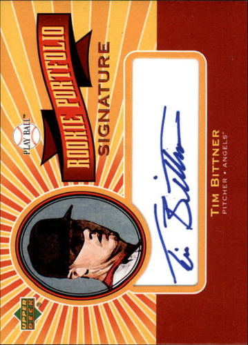 Photo of 2004 Upper Deck Play Ball Rookie Portfolio Signature #BI Tim Bittner RC AUTO