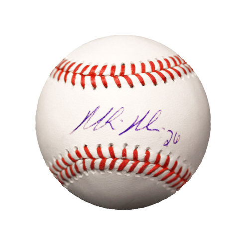 Photo of Mike Minor Autographed Baseball