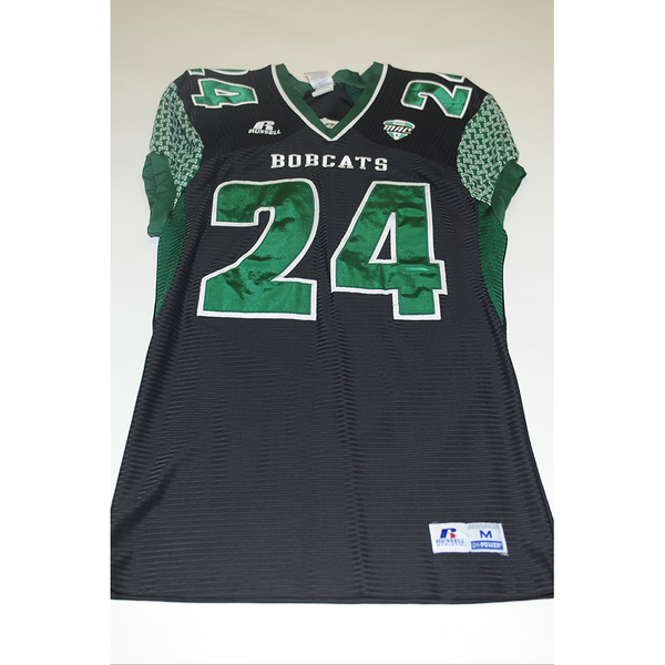 Photo of # 24 - Official OHIO BOBCATS Game Worn Football Jersey (2011) - SIZE MEDIUM