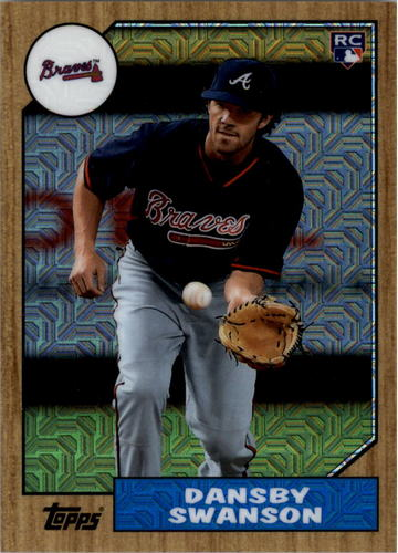 Photo of 2017 Topps '87 Topps Silver Pack Chrome #87DS Dansby Swanson