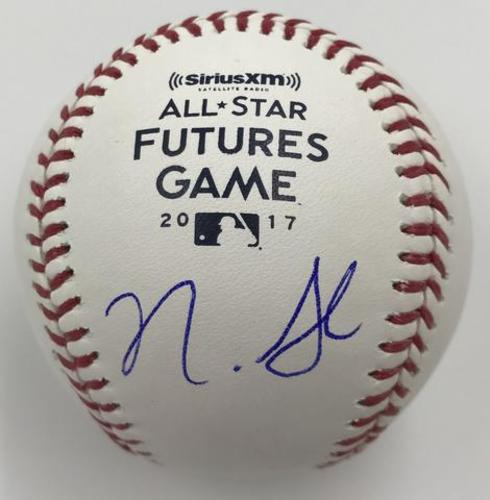 Nick Senzel Autographed 2017 Futures Game Logo Baseball
