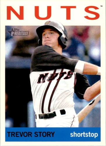 Photo of 2013 Topps Heritage Minors #33 Trevor Story Pre-rookie Card