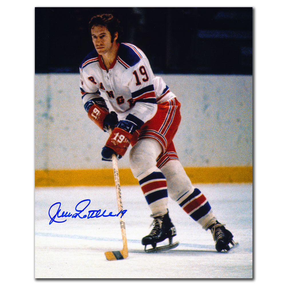 Jean Ratelle New York Rangers PLAYMAKER Autographed 8x10