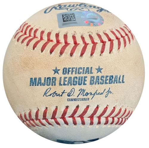 Photo of Game-Used Baseball from Pirates vs. Cubs on 7/31/18 - Jameson Taillon Strikeout Pitch