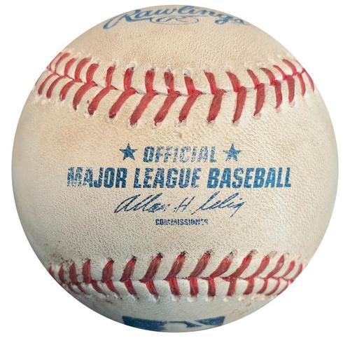 Photo of Game-Used Baseball from Pirates vs. Reds on 6/18/14 - Polanco Extends Hitting Streak to 8 Games to Start Career