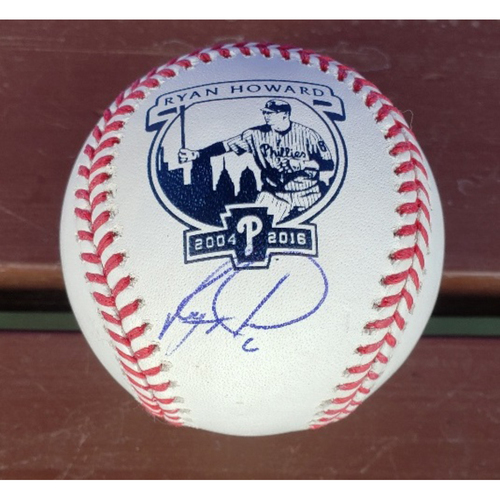 Photo of Ryan Howard Autographed Baseball