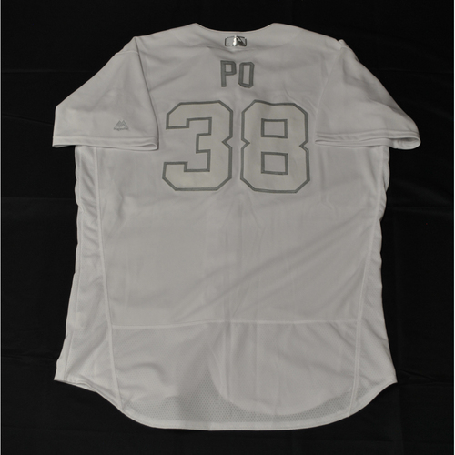 "Photo of Colin ""PO"" Poche Tampa Bay Rays Game-Used 2019 Players' Weekend Jersey"
