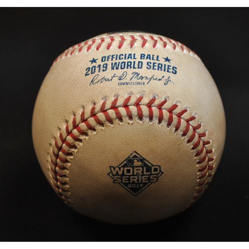 Photo of Game-Used Baseball: 2019 World Series - Game 3: Pitcher: Anibal Sanchez, Batter: Alex Bregman (Strikeout Swinging) - Top 1