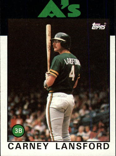 Photo of 1986 Topps #134 Carney Lansford