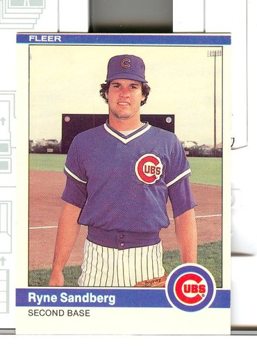 Photo of 1984 Fleer #504 Ryne Sandberg
