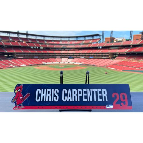 Photo of Cardinals Authentics: Team Issued Chris Carpenter Nameplate