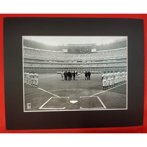 Photo of Matted Anthem at Riverfront Stadium (First Game) - 11x14