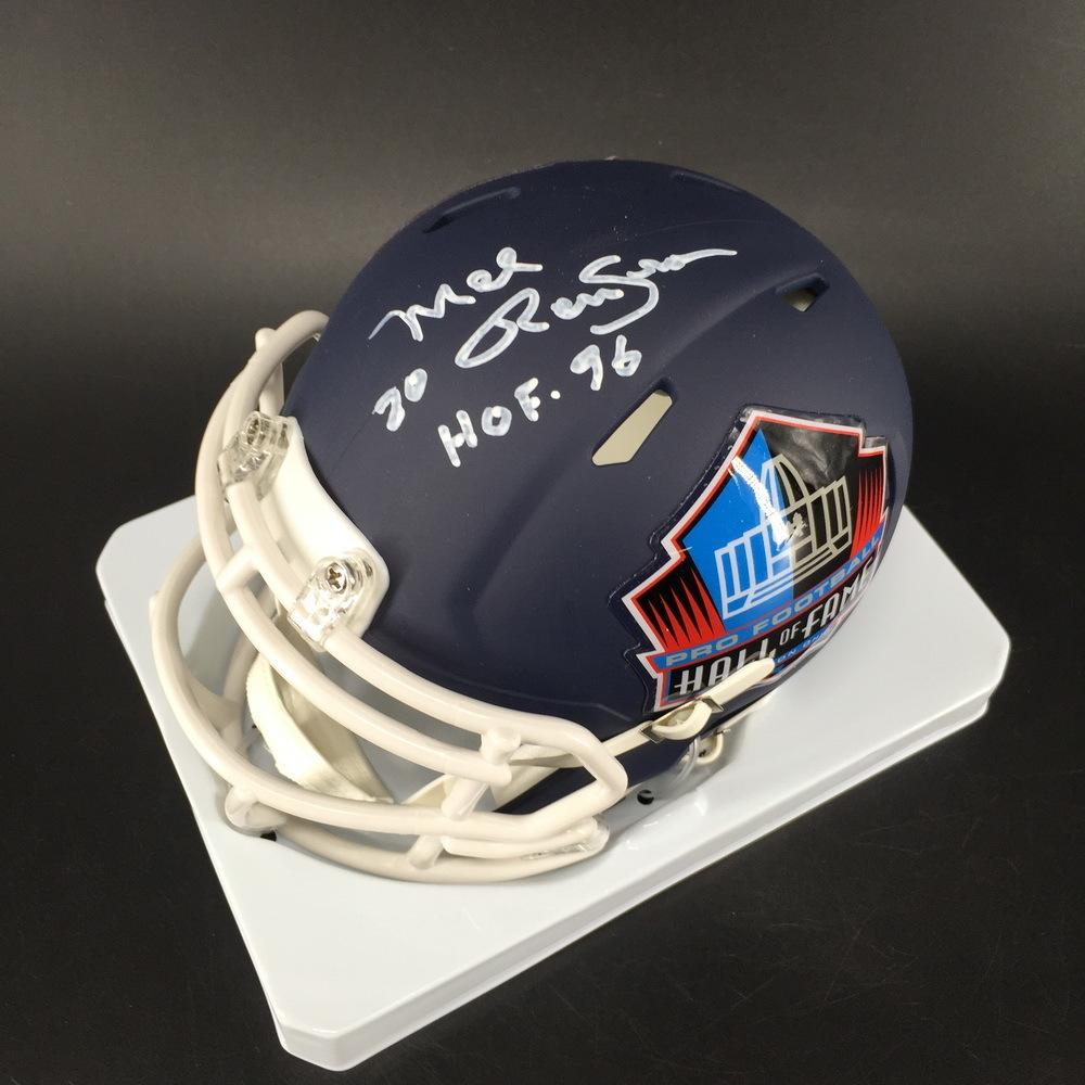 HOF - Cowboys Mel Renfro Signed Hall of Fame Mini Helmet