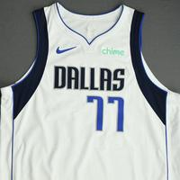 Luka Doncic - Dallas Mavericks - Game-Worn Association Edition Jersey - Recorded a 31 point Triple-Double - 2021 NBA Playoffs