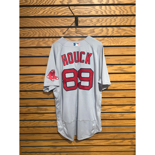 Photo of Tanner Houck August 29, 2021 Game Used Road Jersey