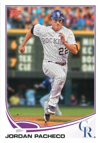 Photo of 2013 Topps #186 Jordan Pacheco