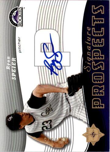Photo of 2005 Ultimate Signature #192 Ryan Speier AU RC
