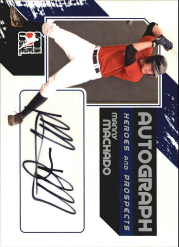 Photo of 2011 ITG Heroes and Prospects Full Body Autographs Silver #MMA Manny Machado S2