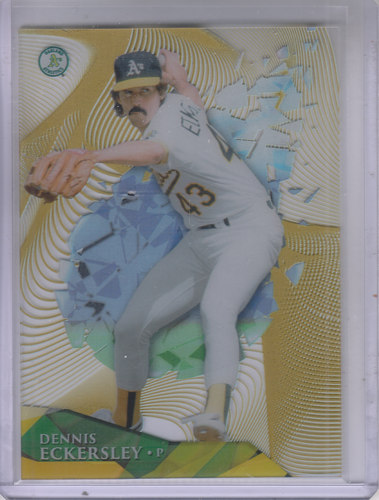 Photo of 2014 Topps High Tek Wave Gold Diffractor 99 #HTDE Dennis Eckersley