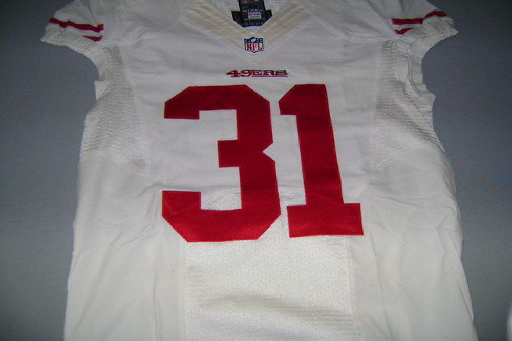 49ERS - GLENN WINSTON GAME WORN 49ERS JERSEY (AUGUST 28 2014) WASHED BY EQUIPMENT MANAGER